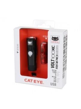 Cateye 8900350 EL051/LD620 Volt100XC+Rapid Micro  Lichtset